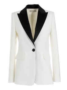 MANTU WHITE SMOKING BLAZER