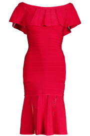 PARIS BAND DRESS | RED RUFFLE