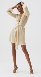 MELISSA ODABASH GOLD SHORT DRESS | BANKS