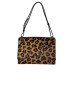 SARA BATTAGLIA LEOPARD DELPHINE SHOULDER BAG