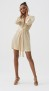 MELISSA ODABASH GOLD SHORT DRESS | BANKS