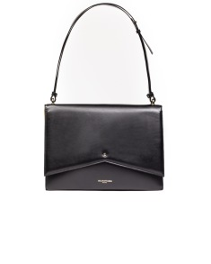 SARA BATTAGLIA DELPHINE SHOULDER BAG BLACK