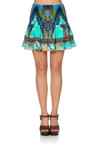 CAMILLA | SHORT SHIRRED SKIRT | REEF WARRIOR