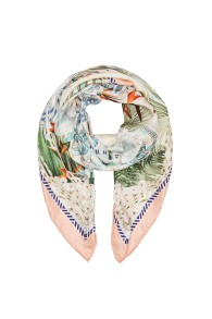 CAMILLA | LARGE SQUARE SILK SCARF | BEACH SHACK
