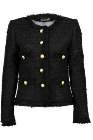 Maruschka de Margo Tweed Jacket Black with Gold
