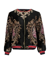 PARIS BAROQUE VELVET BOMBER | BLACK
