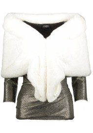 PARIS STOLA FAUX FUR WHITE