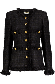 MARUSCHKA DE MARGO LONG TWEED BLACK GOLD