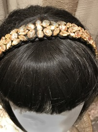 PARIS PICKED SWAROVSKI CRYSTAL TIARA GOLDEN