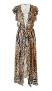 MELISSA ODABASH BRIANNA FRILL WRAP MAXI DRESS | CHEETAH
