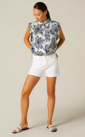 7 FOR ALL MANKIND BOY SHORTS PURE WHITE