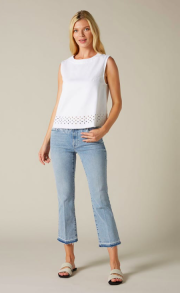 7 FOR ALL MANKIND CROPPED BOOT UNROLLED SLIM ILLUSION PIER