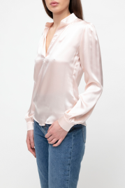 VESNA W SILK CAROLINE BLOUSE ROSE