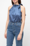VESNA W SILK CHARLOTTE TOP BLUE