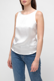 VESNA W SILK CATHERINE TOP WHITE