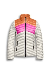 BEAUMONT CHANGEANT JACKET COLORBLOCK OFF WHITE