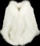 PARIS KNITTED FUR STOLA RABBIT & FOX | WHITE