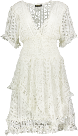 PARIS PICKED LACE DRESS WHITE