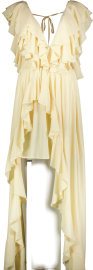 PARIS PICKED CREAM RUFFLE DRESS