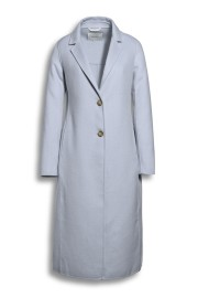 BEAUMONT SUMMER WOOL LONG BLAZERCOAT BLUE