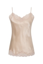 GOLDHAWK FLORAL SILK LACE CAMI CREAM
