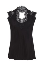 GOLDHAWK GINA SILK LACE CAMI BLACK