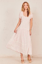 LOVESHACKFANCY JEANETTE COTTON DRESS
