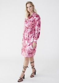 MARTA LARSSON SILK SHIRT DRESS GALENA PINK