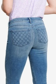 NYDJ SHERI SLIM JEANS QUILTED BACK POCKET