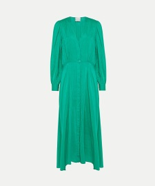FORTE_FORTE COTTON SILK VOILE DRESS WITH SLIP MENTA