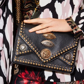 ROBERTO CAVALLI | SHOULDER BAG LUCKY SYMBOLS BLACK