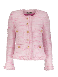 MARUSCHKA DE MARGO PINK TONES TWEED JACKET WITH GOLD BUTTONS