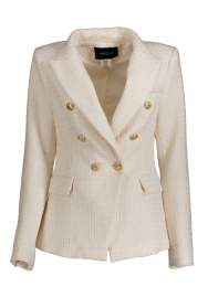 PARIS PICKED VANILLA TWEED BLAZER GOLD BUTTONS