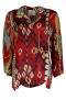 FORTE_FORTE IKAT PRINT ON SILK JACKET IN RED TONES