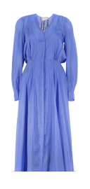 FORTE_FORTE COTTON SILK VOILE DRESS WITH SLIP BLUE