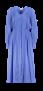 FORTE_FORTE COTTON SILK VOILE DRESS WITH SLIP BLUE