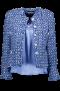 MARUSCHKA DE MARGO BLUE WHITE W SILVER  BUTTONS