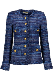 MARUSCHKA DE MARGO LONG TWEED BLUE MULTI