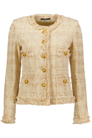 MARUSCHKA DE MARGO TWEED BEIGE TONES & GOLD BUTTONS