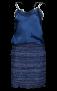 MARUSCHKA DE MARGO SHORT V JACKET TWEED BLUE MULTI
