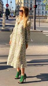 DEA KUDIBAL CATHERIN SILK EXCLUSIVE BUTTERFLY GOLD DRESS