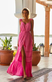 MELISSA ALANNA ROSE MAXI DRESS