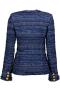 MARUSCHKA DE MARGO LONG TWEED JACKET BLUE MULTI SUIT