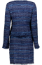 MARUSCHKA DE MARGO SHORT V JACKET TWEED BLUE MULTI SUIT