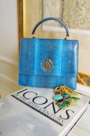 ROBERTO CAVALLI MEDIUM BAG WITH STRAP SNAKESKIN