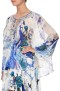CAMILLA SILK TIE FRONT HIGH LOW HEM BLOUSE WHITE SIDE OF THE MOON