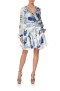 CAMILLA SILK SHIRRED RELAXED SHORT DRESS WHITE SIDE OF THE MOON