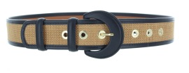 MAISON BOINET LEATHER & JUTE BELT