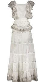 PARIS PICKED SILVER & WHITE DRESS