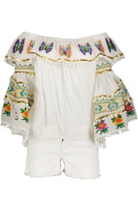 PARIS PICKED BUTTERFLY OFF SHOULDER TOP